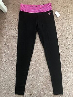 89bcaadc039195 Aeropostale Live Love Dream Women's Leggings LLD Black Pink Size Small