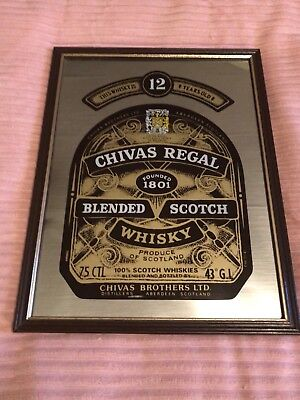 Chivas Regal Whisky Collectable Mirror Picture