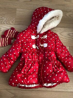 Girls 1-1.5yrs Jacket From George Red Jacket Winter Coat