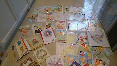 Birthday Greeting Cards Bundle Job Lot 100+ Female Male Kids Sport Family & More