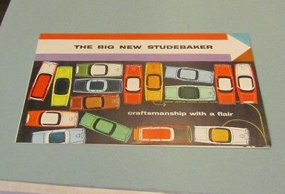 1956 The Big New Studebaker Automobile Brochure Craftsmanship With A Flair