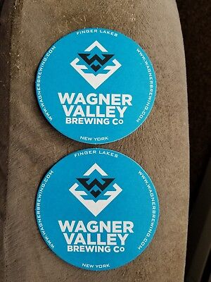 Wagner Valley Brewing Company Craft Beer Coaster Lot Of (2) -New York