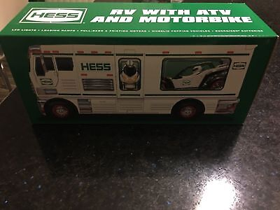 2018 Hess Holiday Toy Truck Rv With Atv Brand New- Unopened Free Shipping Nib!