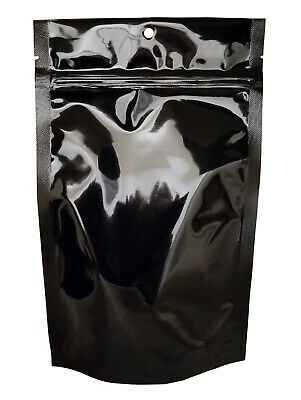 Stand-Up Pouch Stock Bag - Black Foil Stand-Up Food Saver Pouches, 100pcs