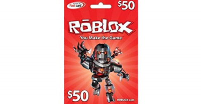 !!SALE NEW Premium Roblox $50 Gift Card Physical Mail Fast Delivery!!