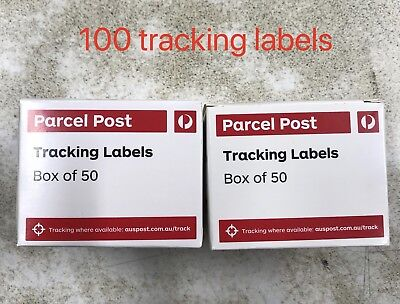Australia Post Tracking Labels 100 (2 Boxes) Free Postage