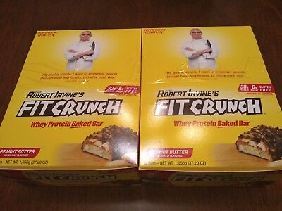 Robert Irvine Fit Crunch Protein Bars X 2 Boxes 24 Total 30 Gram Huge New