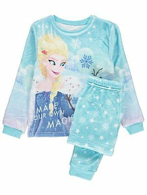 Girls Disney Frozen Fleece Pyjamas twoies pyjama set Elsa and Olaf 7-8 Years