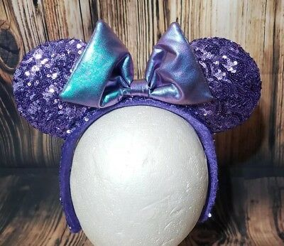 Disney Parks Potion Purple Sequined Minnie Mouse Ears Headband
