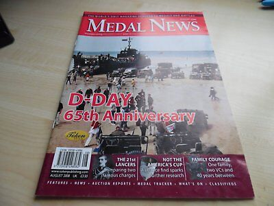 Medal News Magazine - AUGUST 2008 - VERY GOOD CONDITION
