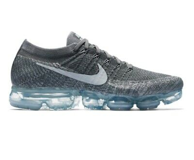 the latest 60295 66104 NEW MENS BOYS Nike Air Vapormax Flyknit Trainers Wolf Grey Gym Running UK  Size 6