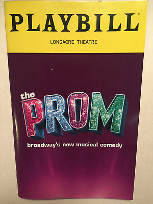 The Prom Playbill Book Broadway Theatre New York December 2018