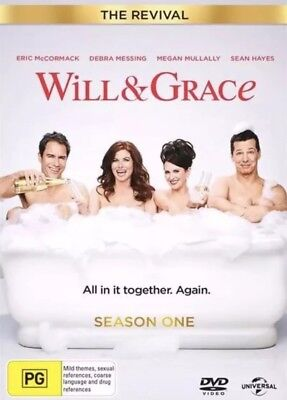 Will & Grace Season 1 The Revival Dvd 2018 New & Sealed- Free Postage! Region 4