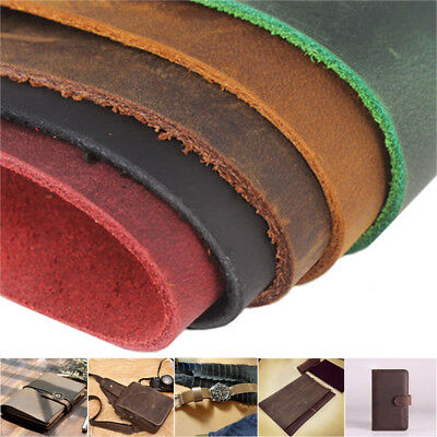 "100% Natural Crazy Horse Leather Sheet Flat Plate Vintage DIY Craft 8.3""*5.5"" AU"