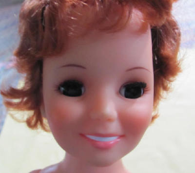 """Vintage Ideal Crissy red grow hair doll 18"""" tall maybe for parts"""