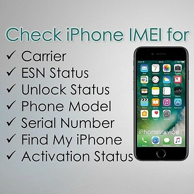 Check iPhone all Models- IMEI Carrier / SIM Unlock -  Status Report FAST GSX