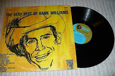 Hank Williams LP, The Very Best Of Of Hank Williams, MGM SE- 4168, VG++