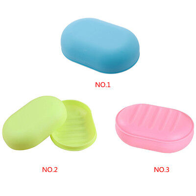 Bathroom Shower Travel Portable Soap Box Dish Plate Holder Case Container