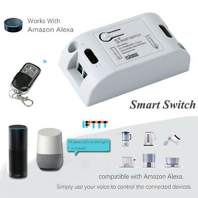 Wifi Smart Switch Wireless RF Receiver Timer Relay Phone Remote Control