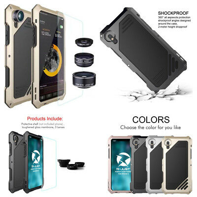 Metal Aluminum Case Cover With Fisheye Wide Angle Macro Lens For iPhone Xs Max X