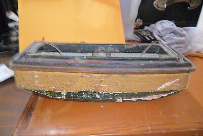 Old Handmade  Folk Art Wood Canal Barge  Erie Canal With Stand Wonderful 1930`S