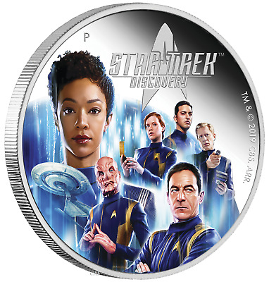 2019 Star Trek Discovery Crew 2oz $2 Silver Proof Coin
