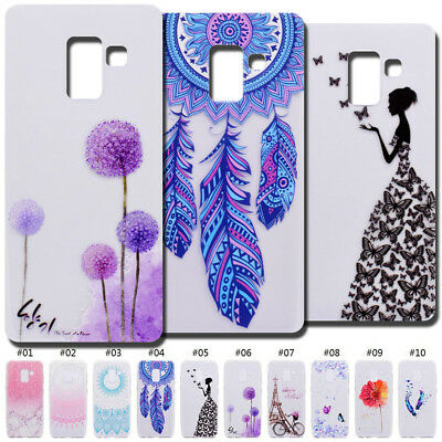 For Samsung Pattern Soft Clear Rubber Skin TPU Cute Case Cover Protective Back