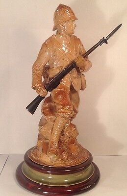"Rare Royal Doulton Antique Sculpture "" The Boer War Soldier""  By John Broad"