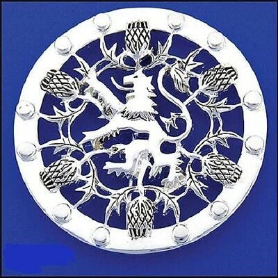 Pewter Rampant Lion and Thistle Pin