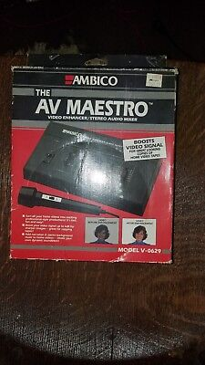 Audio For Video Ambico Av Maestro V0629 Video Enhancer Stereo Audio Mixer Reasonable Price