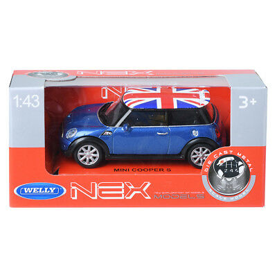 MINI COOPER S CABRIOLET BLEU 1//24 WELLY