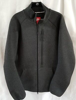 Nike Mens Tech Fleece 544143Jacket training Large charcoal 032 chest zip pocket