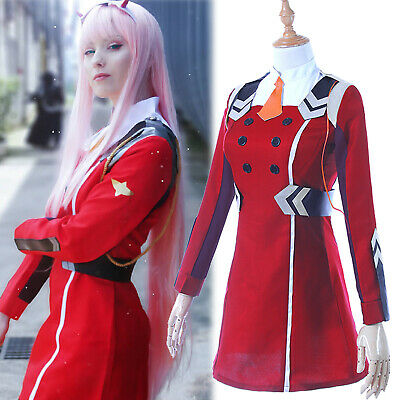 DARLING in the FRANXX 02 ZERO TWO Cosplay Costume Uniform Suit Fancy Dress Set