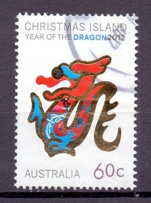 Christmas Island Australia 2012 Year of the Dragon 60c - used