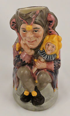 """Royal Doulton Character Toby Jug The Jester D6910 Limited Edition #750 5"""" Medium"""