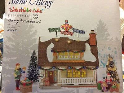 Dept 56 Snow Village New 2018 Christmas Lane THE TOY HOUSE BOXED SET 6000633