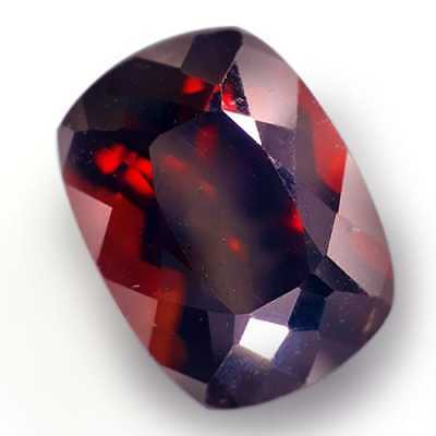 7.910 Cts  Srilanka Unheated Fire Red Natural Zircon Cushion Cut Loose Gemstones