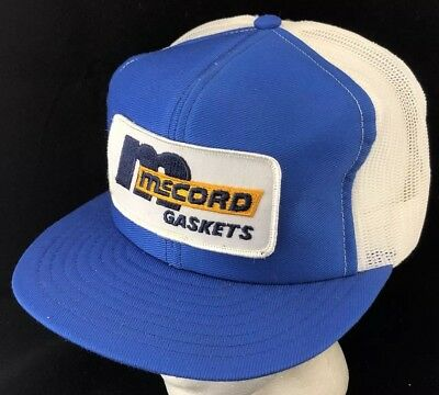 0010be9a51309 Vtg 80s Mesh Trucker Hat Snapback Patch Cap McCord Gaskets Auto Parts Car  Truck