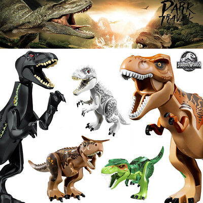 Jurassic Park World Dinosaur Figure Blocks T-Rex Minifigures Toys Fit Lego 2019