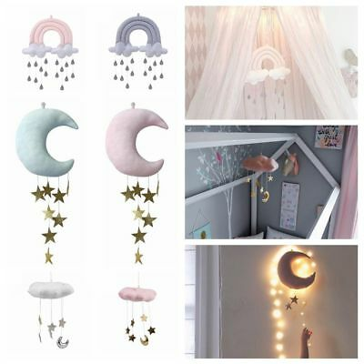 Decor Cotton Baby Cloud Wall Ornaments Moon Doll Crib Hanging Toys Wind Chimes