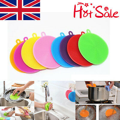 8in1 Food-grade Silicone Dishwashing Brush Tableware Kitchen Cleaning Scrubber