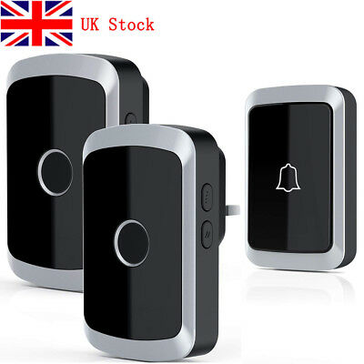300m Wireless Doorbell Receivers with LED Flash Waterproof Electric 4 Volume