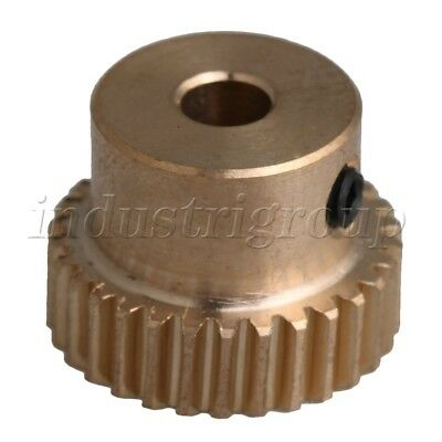 12x16x4mm 0.5 Modulus 30T Brass Worm Gear Wheel for Gear Box Shaft Driving