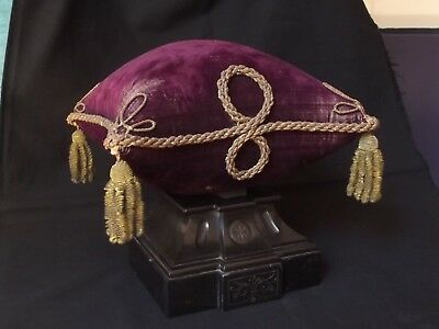 Antique French Display's Cushion Embroidery w/Gold threads Religious Wedding