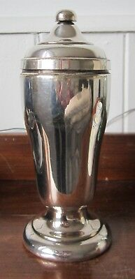 ELKINGTON silver plate container screw top lid - shaker?