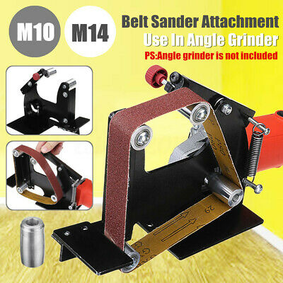 Angle Grinder Belt Sander Attachment With M10/M14 Spindle for 100 or 115/125/150