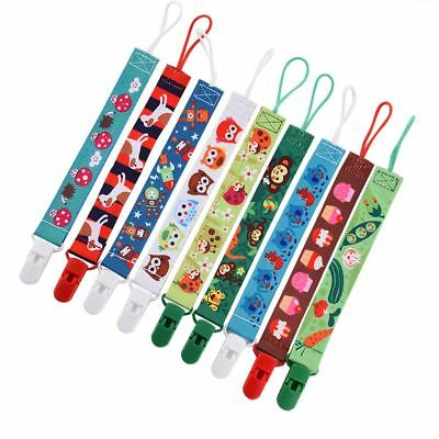 1 Piece Cartoon Soft Baby Pacifier Clip Soother Chain Nipple Strap for Infants