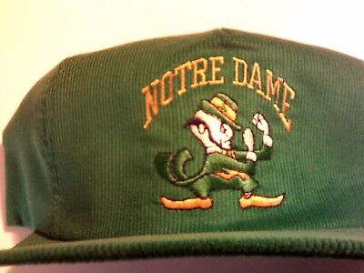 Vintage Notre Dame Fighting Irish  snapback hat cap trucker made in USA clean