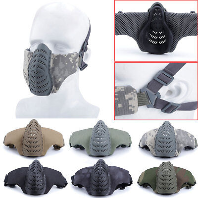 Tactical Airsoft Half Face Mask Protective Mesh Mask Paintball Shooting CS Games