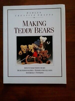 Making Teddy Bears vintage book Hamlyn crafts restoring bears includes patterns